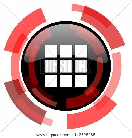 thumbnails grid red modern web icon