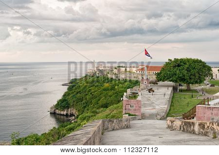 The colonial fortresses of El Morro and La Cabana in Havana
