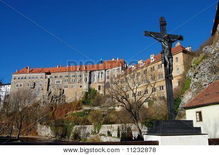 Castle of Cesky Krumlov at daylight