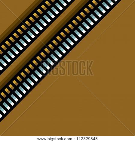 Steel Techno Tubes Pattern With An Orange Backlight