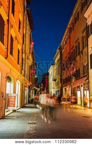 Street In The Old Town At Night