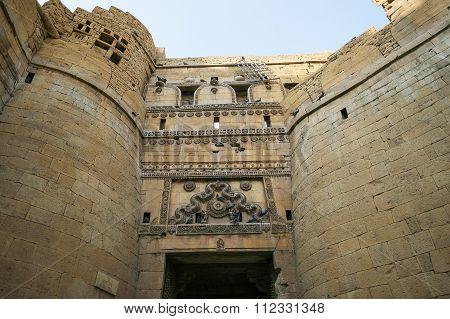 Jaisalmer, India-november 26, 2016:different Parts Of Golden Fort Of Jaisalmer