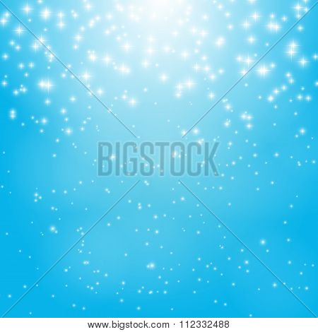 Star Sky Vector Illustration Background