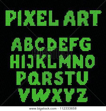 Set Of Pixel Letters