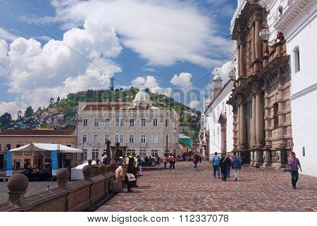 Quito, Ecuador - November 25, 2015: Church And Convent Of San Fr