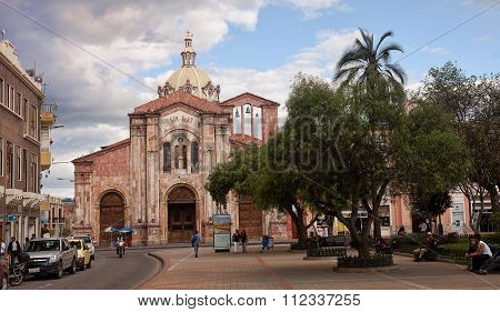 Quito, Ecuador - November 27, 2015:  San Blas Cathedral On 27 No