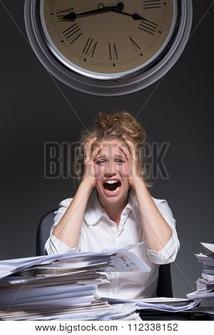 Overworked Frustrated Woman