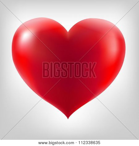 Red Heart With Grey Background