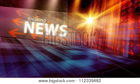Graphical Modern Digital World News Background Ii