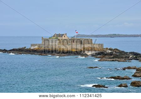 France, Picturesque City Of Saint Malo In Bretagne