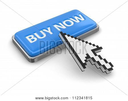 Cursor and button BUY NOW. Image with clipping path