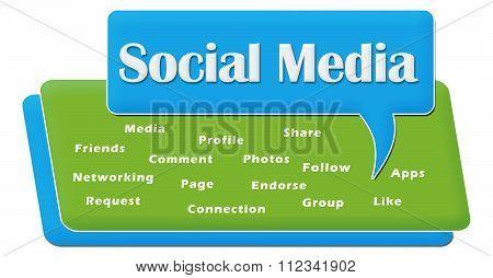 Social Media Comment Symbol Block