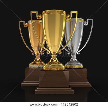 Trophy Cups. Image with clipping path