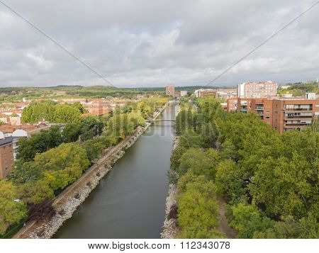 Views Of The River Manzanares, Spain