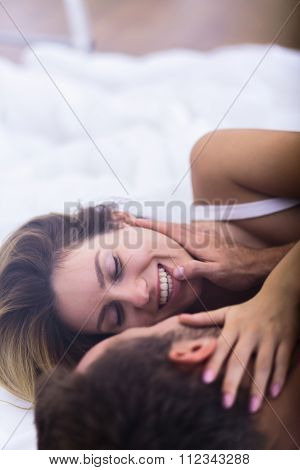 Couple In Love Relaxing Together