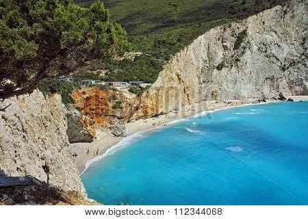 Amazing panorama of Porto Katsiki Beach, Lefkada
