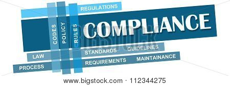 Compliance Blue Stripes With Keywords