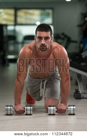 Pushups With Dumbbels