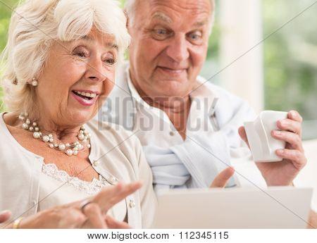 Suprised Elderly Lady