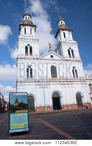 Cuenca, Ecuador - November 28, 2015: Iglesia Santo Domingo On 28