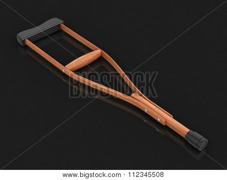 Crutches. Image with clipping path