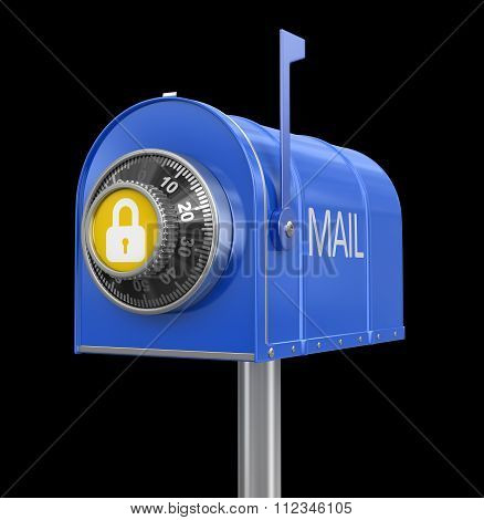 Mailbox protection. Image with clipping path