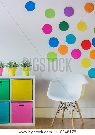 Colorful Dots On The Wall