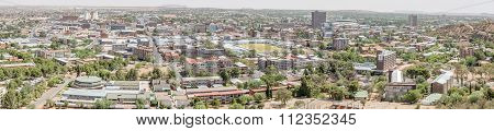 Panorama Of The Central Business District Of Bloemfontein