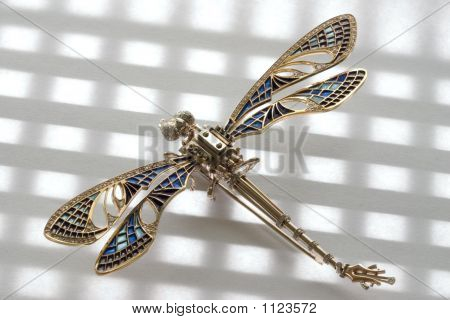 Garnishing. Dragonfly,