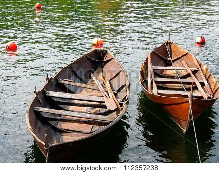 Ancient Norwegian boats