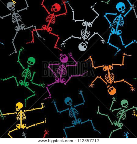 Skeletons seamless pattern