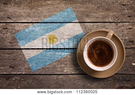 Argentina Flag With Coffee