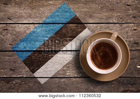 Estonia Flag With Coffee