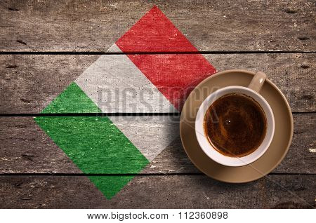 Italy Flag With Coffee