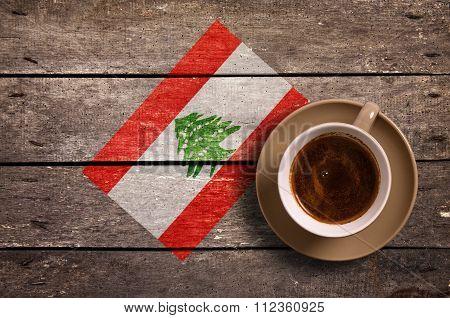 Lebanon Flag With Coffee
