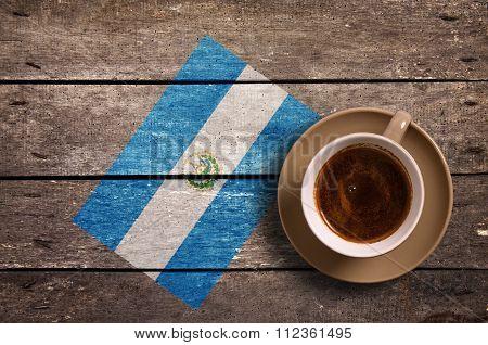 Salvador Flag With Coffee