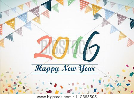Happy New Year 2015 Vector Design