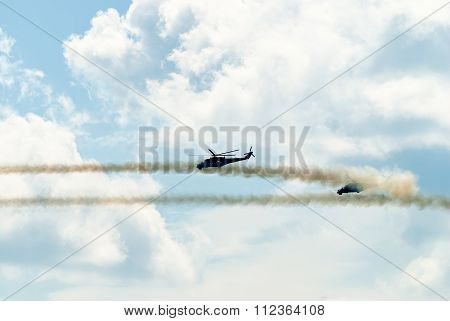 Attack of russian helicopters MI-24