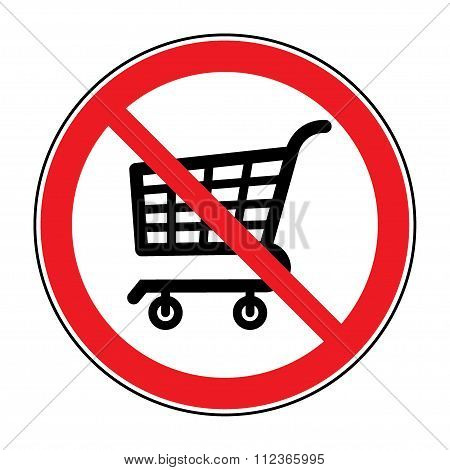 No Cart Sign