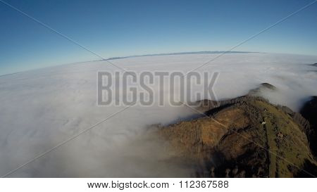 Aerial photography over Romanian montains