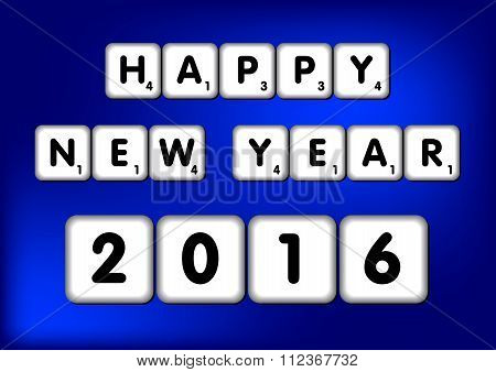 Happy New Year 2016 Scrabble