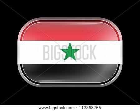 Flag Of North Yemen. Rectangular Shape With Rounded Corners
