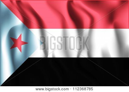 Flag Of South Yemen. Rectangular Shape Icon