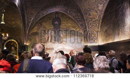Calvary (golgotha). Church Of The Holy Sepulchre. Jerusalem, Israel.