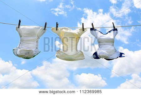 Diapers On A Line