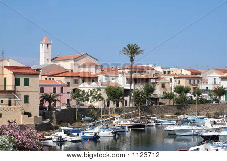 Small Port Of Fishing In Sardinia