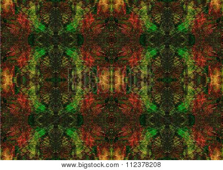 Seamless Symmetrical Pattern To The Center