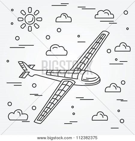 Aeroplan. Vector illustration.