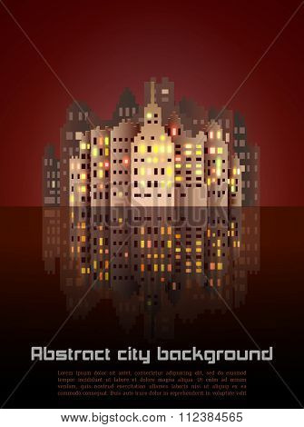 Night city abstract background