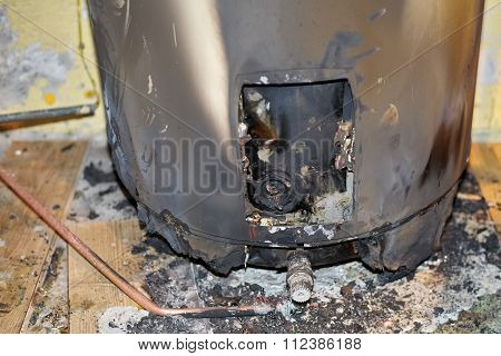 Burned Water Heater